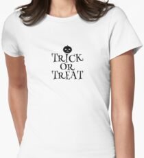 Pumpkin Trick or Treat  Women's Fitted T-Shirt
