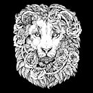 Lions and roses - Black and white by Kellie Lamphere