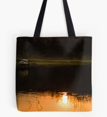 My SUV and sunset Tote Bag