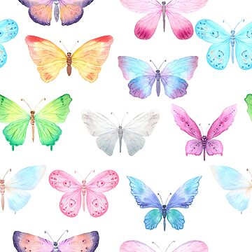 Watercolor Butterflies by Jandsgraphics