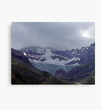 Snowpack,Maligne Lake Canvas Print