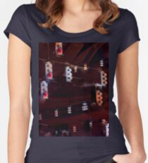Traffic Light Darkness Women's Fitted Scoop T-Shirt