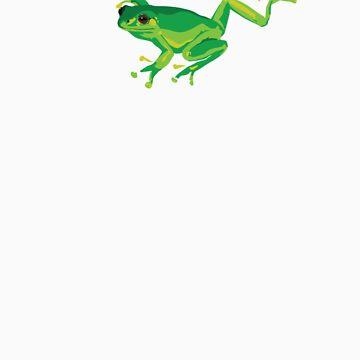 Green Frog by yvettebell