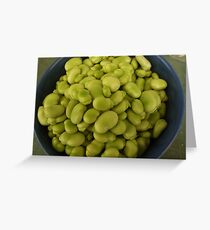 broad beans in blue Greeting Card