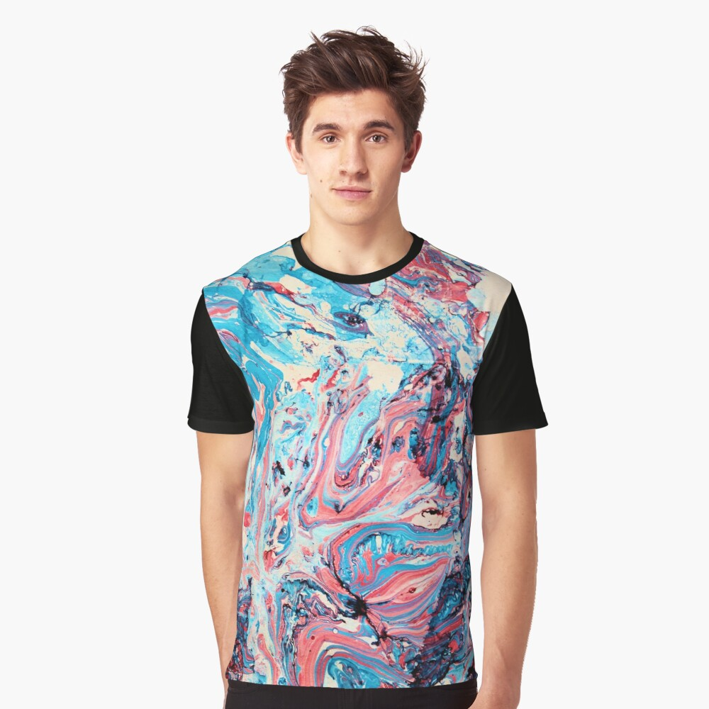 Marbled abstract Graphic T-Shirt Front