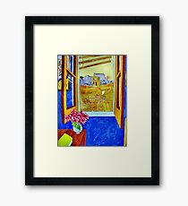 Vincent outside the Yellow House,Running Free. ( Homage to Vincent ) Framed Print