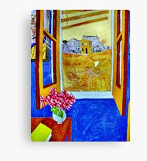 Vincent outside the Yellow House,Running Free. ( Homage to Vincent ) Canvas Print