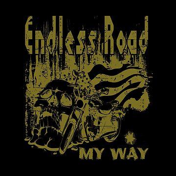 Vapor Doom - Endless Road - Gold Dust Skull Design by Ding-One