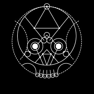 The Skull Sacred Geometry by highparkoutlet