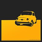 Fiat 500, 1959 - Yellow on black by uncannydrive