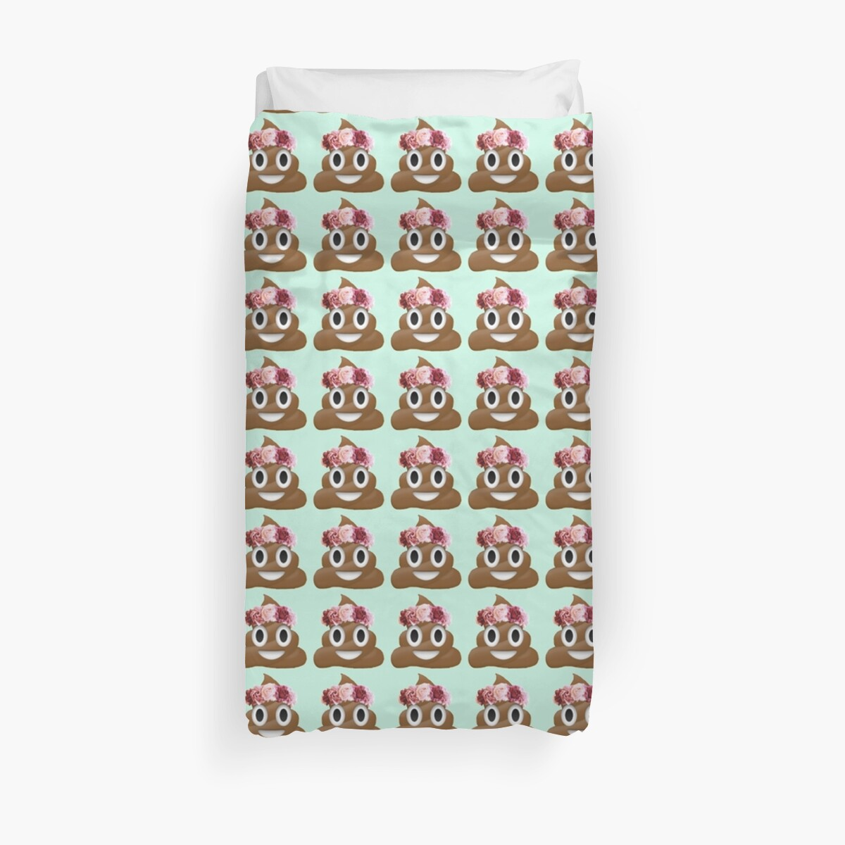 Quot Flower Crown Poop Emoji Hipster Tumblr Quot Duvet Covers By