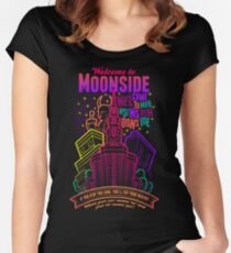 Welcome to Moonside Women's Fitted Scoop T-Shirt