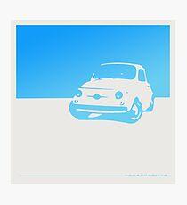 Fiat 500, 1959 - Light blue on white Photographic Print