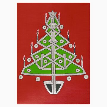 Celtic Christmas Tree Tee by fesseldreg