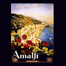 Amalfi Italy Travel Poster by kj dePace'