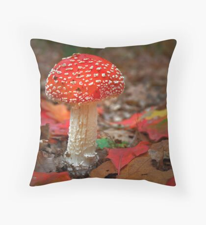 Very deep in the dark forest..... Throw Pillow