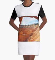Rock Formations of Bryce Canyon, Arizona Graphic T-Shirt Dress
