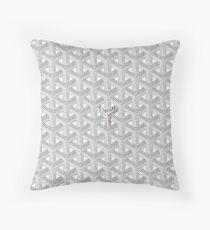 White Graph Throw Pillow
