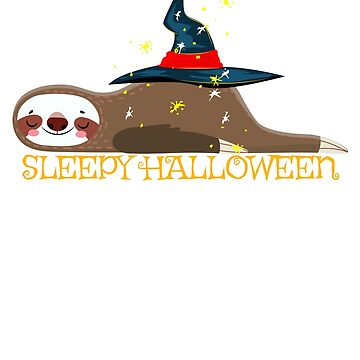 Sloth Happy Sleepy Halloween  by mousung