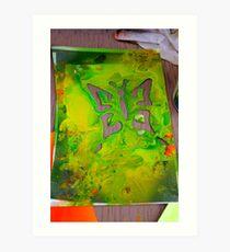 Acrilic butterfly Art Print