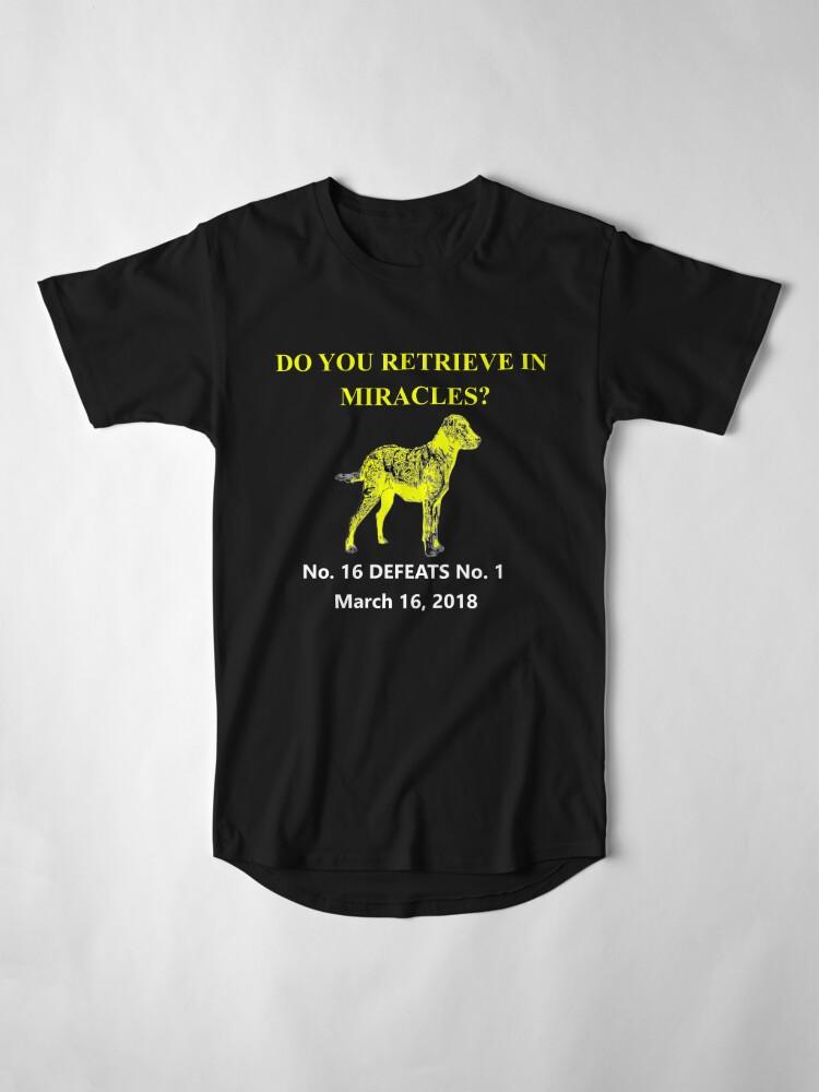 Alternative Ansicht von UMBC Beats Virginia 2018 NCAA März Verrücktheit Basketball Turnier T-Shirt Longshirt