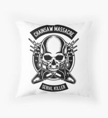Chainsaw Massacre Throw Pillow