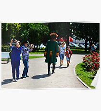 Peter the Great Walks Among the Tourists Poster