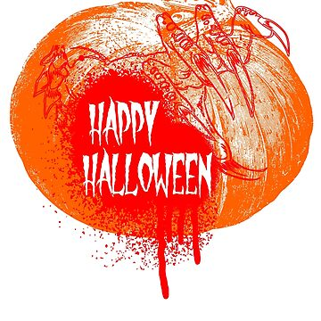 Happy Halloween Pumpkin Graphic by mousung