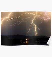 Rocky Mountain Foothills Lightning Storm Poster