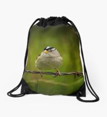 """""""ON A WIRE"""" Drawstring Bag"""