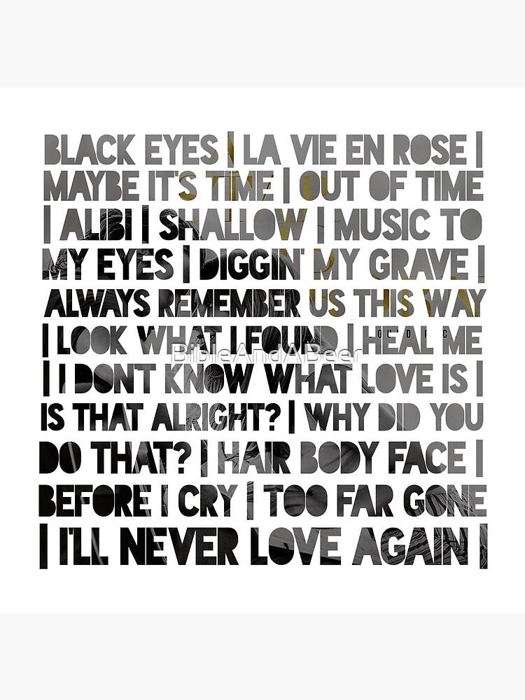 ASIB Lady Gaga und Bradley Cooper Songs von BibleAndABeer