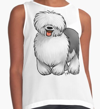 Old English Sheepdog Contrast Tank