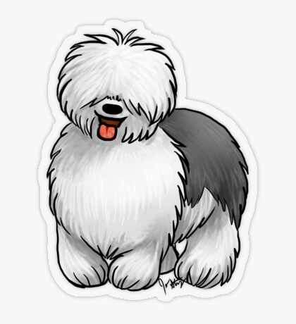 Old English Sheepdog Transparent Sticker