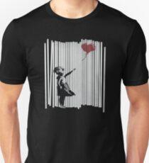 Camiseta ajustada ¡Oye! ¡Lo arreglé! Banksy Shredded Balloon Girl