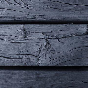 Wooden Planks in Dark Gray - Horizontal by KeksWorkroom
