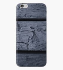 Wooden Planks in Dark Gray - Horizontal iPhone Case