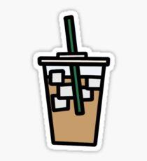 iced almond milk latte Sticker