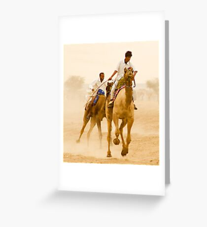 Camels of Rajasthan Greeting Card