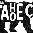 Lake Tahoe California Bear Typography by MyHandmadeSigns