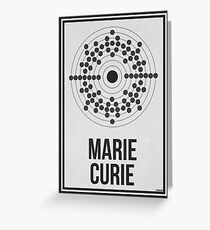 MARIE CURIE - Women in Science Greeting Card