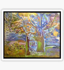 elf-tree my painting Fauve Sticker