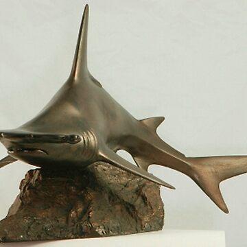Great Hammerhead Shark sculpture by ashlint