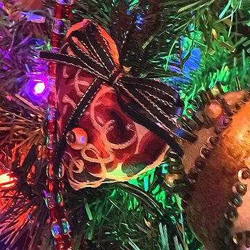 Christmas Heart on The Tree by bloomingvine