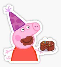 Peppa Pig Cake Sticker Sticker