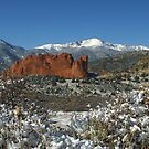Pikes Peak and The Garden of the Gods under blanket of Snow by Robert W. Spath II