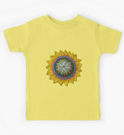 Sun Sunflower Mandala Original Print Design Kids Clothes