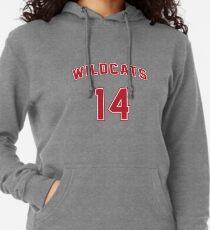 Troy Bolton 14 East High School Wildcats Basketball Team Lightweight Hoodie