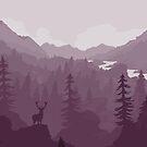 Firewatch Purple Scenery by Charlotte MG
