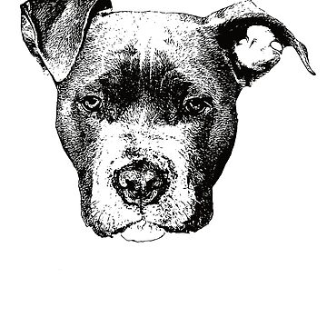 American Pit Bull Terrier Face Design - A Pittie Christmas Gift  by DoggyStyles