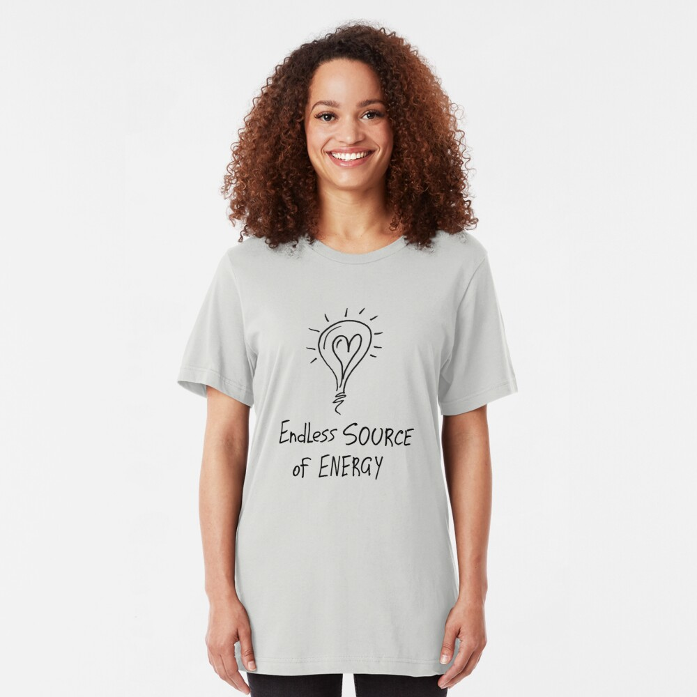 Endless source of energy Slim Fit T-Shirt